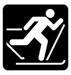 Skiing sign vector