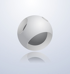 Abstract 3d sphere vector image vector image