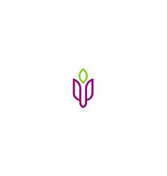 Abstract flower beauty logo vector