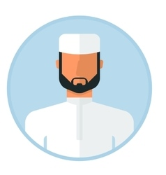 Arabic muslim man vector