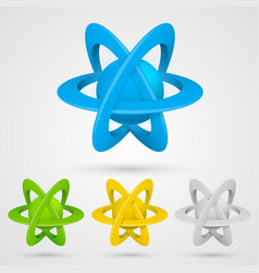 Atom set symbol on a white background vector