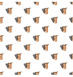 Beekeeping smoker pattern vector
