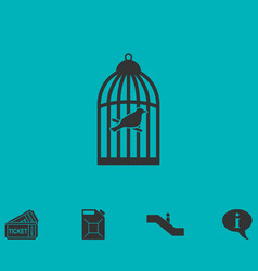 Birdcage icon flat vector