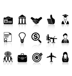 Business career icons vector