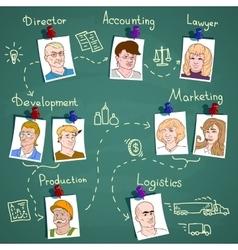 Business team infographics vector