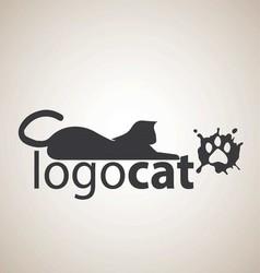 cat logo 5 vector image vector image