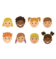 children of different nations vector image