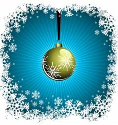 christmas illustration with gold ball vector image