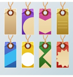 Colorful tag set vector image vector image