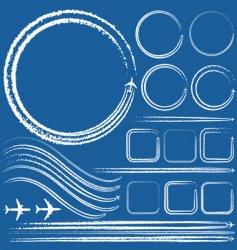 design elements of jet trails vector image vector image