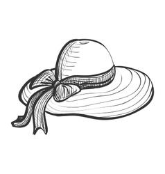 Doodle woman hat vector