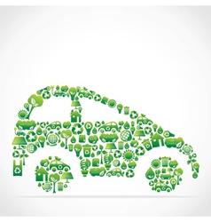 Eco green icon car vector