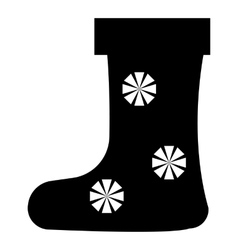 Felt boot with snowflake icon simple style vector