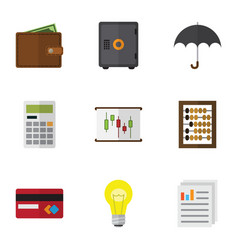 flat exchequer set of bubl counter calculate and vector image vector image