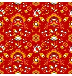Floral seamless pattern in russian folk style vector
