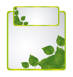 green sheath of leaves icon vector image