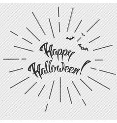 Happy halloween text banner vector