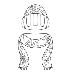Hat and scarf coloring vector