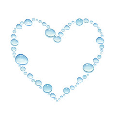 heart with watercolor water drops vector image