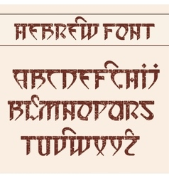 Hebrew style font vector