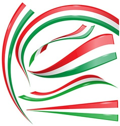 Italian and mexican flag set vector image vector image