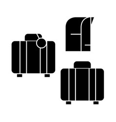 luggage icon sign o vector image