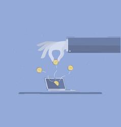 Online business concept business vector