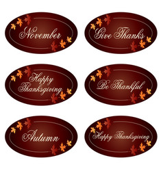 Ornate thanksgiving labels clipart vector