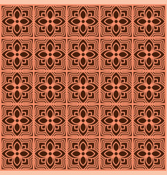 pattern background thai flower vector image