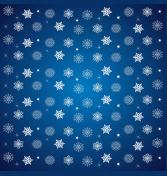 Pattern of snowflakes and stars on a blue vector