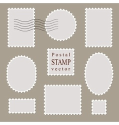 Postal stamps old style vector