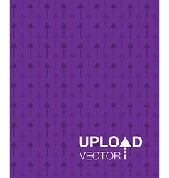 purple upload background vector image vector image