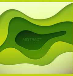 realistic paper cut background vector image vector image