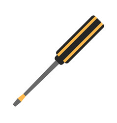 screwdriver flat icon vector image