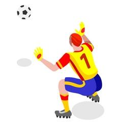 Soccer goalkeeper 2016 sports 3d vector