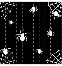 Spiders and web seamless background vector image vector image