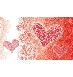 St Valentine Love Red Heart Card vector image vector image