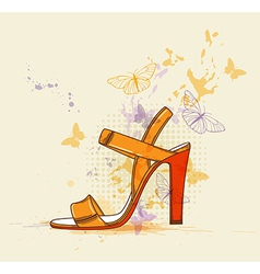 summer shoes vector image vector image