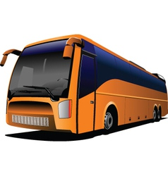 Tour bus company logo vector