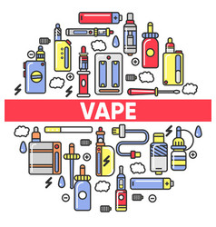 vape shop electronic cigarettes and smoking vector image vector image