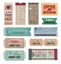 vintage movie tickets vector image vector image