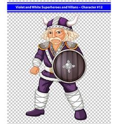 Violet viking vector image