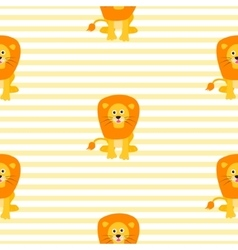 Cute lion seamless pattern vector