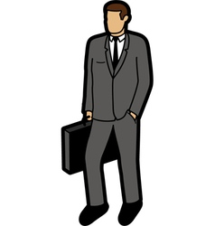 Modern business man vector image