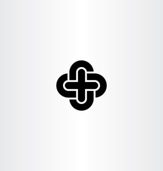 cross icon black symbol design element vector image