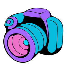 camera icon cartoon vector image