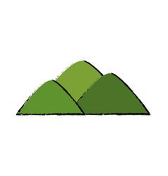 green mountain natural land field vector image