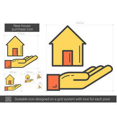 New house purchase line icon vector