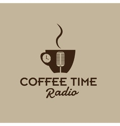 Coffee time radio vector