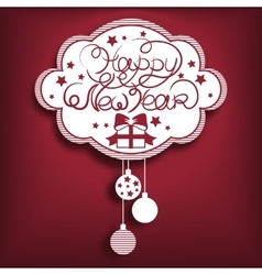 New year card red vector